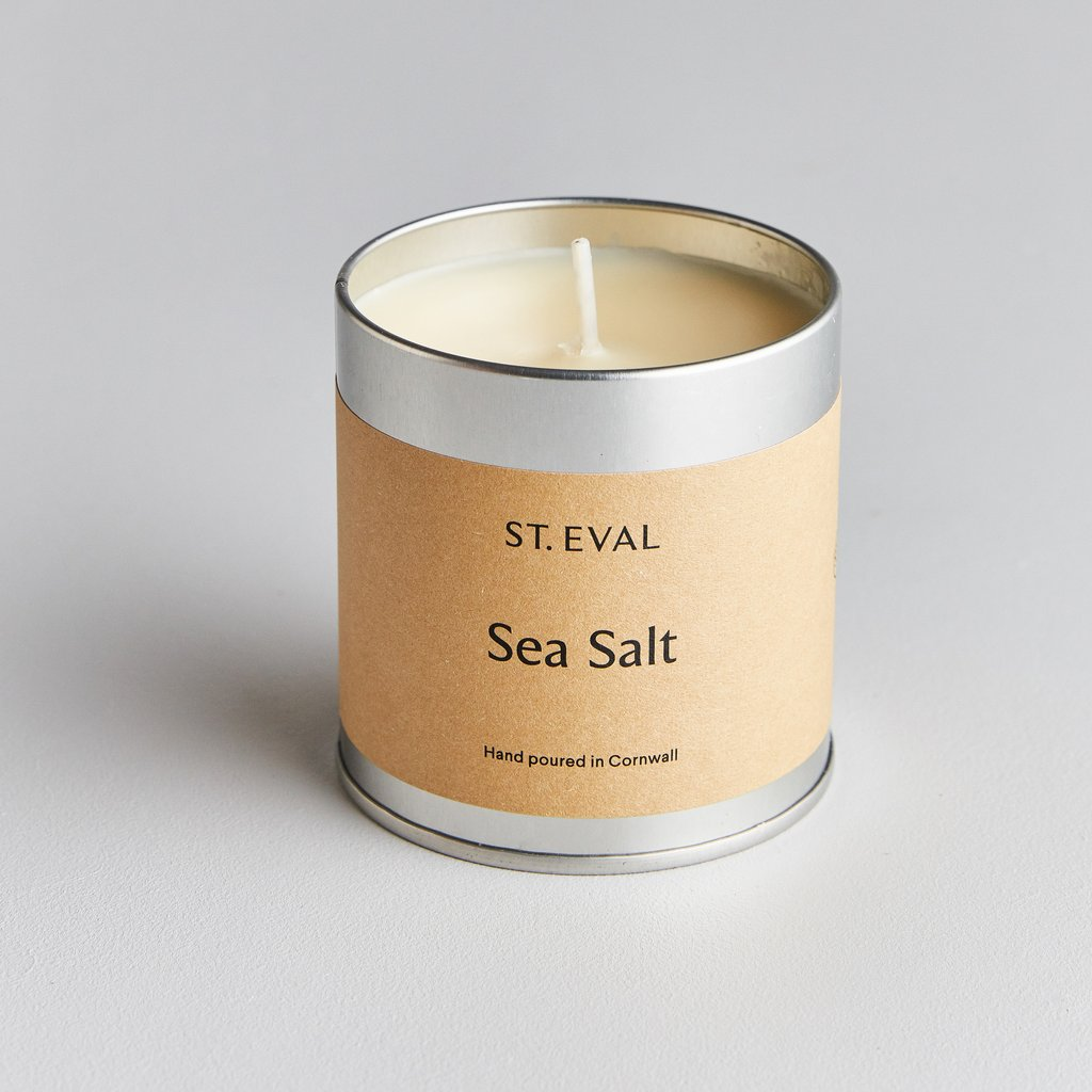 Sea Salt Scented Tin Candle-candle-The Little House Shop