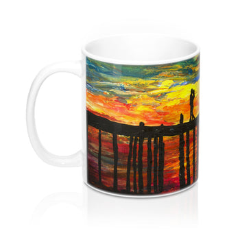 Couple on a Pier - Mug