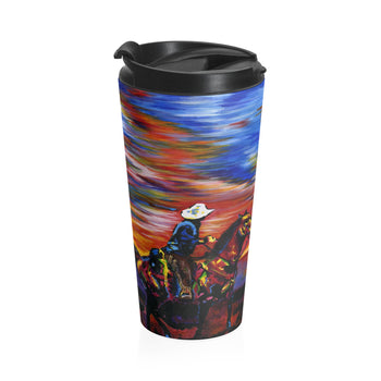 Cowboy Sunset - Travel Mug