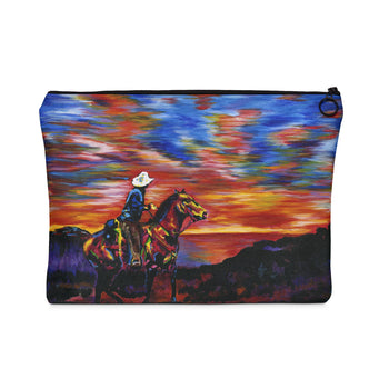 Cowboy Sunset - Flat Carry Pouch