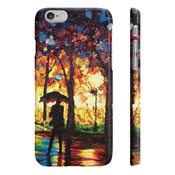 Stroll in the Rain - Phone Case