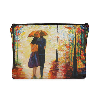 Couple in the Rain - Flat Carry Pouch