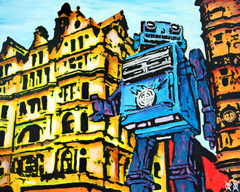 Leicester Square Robot - Workroom Stock