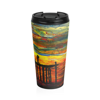 Couple on a Pier - Travel Mug