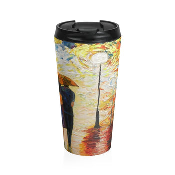 Couple in the Rain - Travel Mug