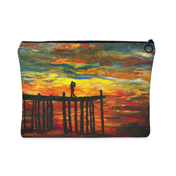 Couple on a Pier - Flat Carry Pouch