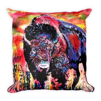 Square Pillow - Bison