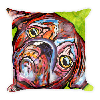 Square Pillow - Pugs