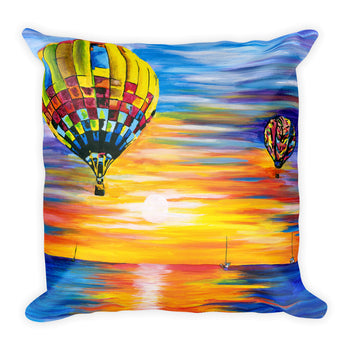 Square Pillow - Balloon Sunrise