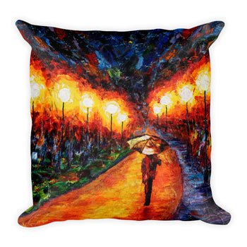 Square Pillow - Evening Stroll