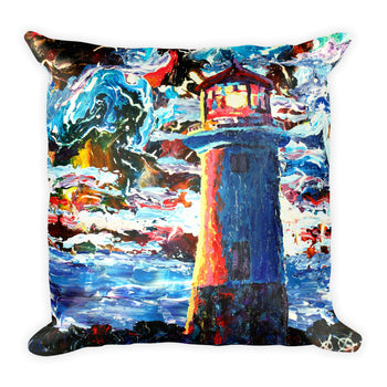 Square Pillow - Lighthouse