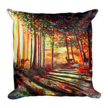 Square Pillow - Morning Forest