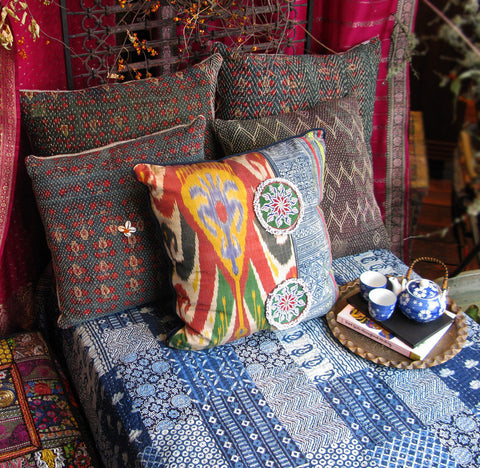 Cargo kantha bed set quilt
