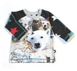 molo camiseta snow animals