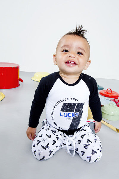 cool and quirky baby clothes Lucky No 7