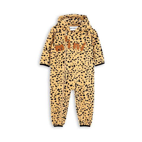 Fleece spot onesie by Mini Rodini