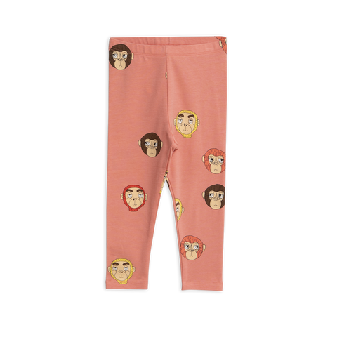 Monkeys Printed Leggings de Mini Rodini