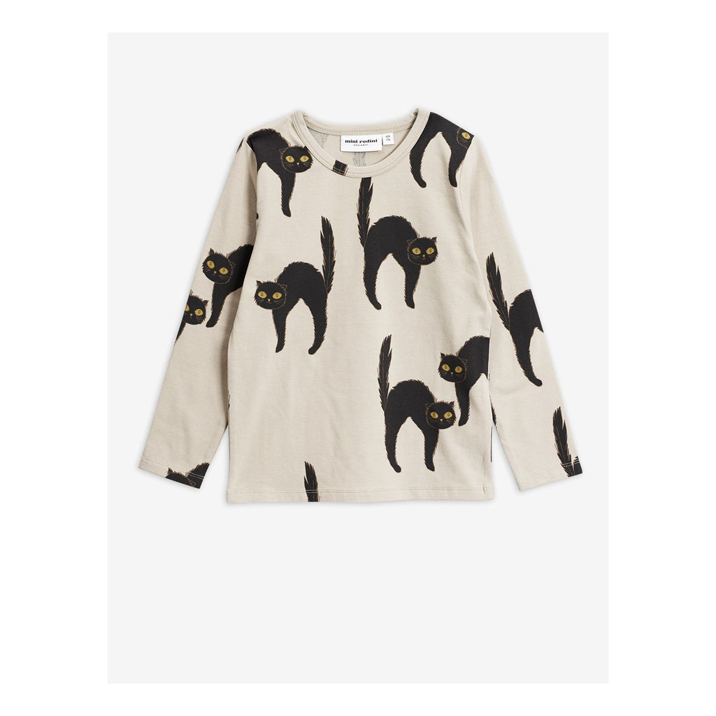 Cat Long Sleeve T-shirt by Mini Rodini