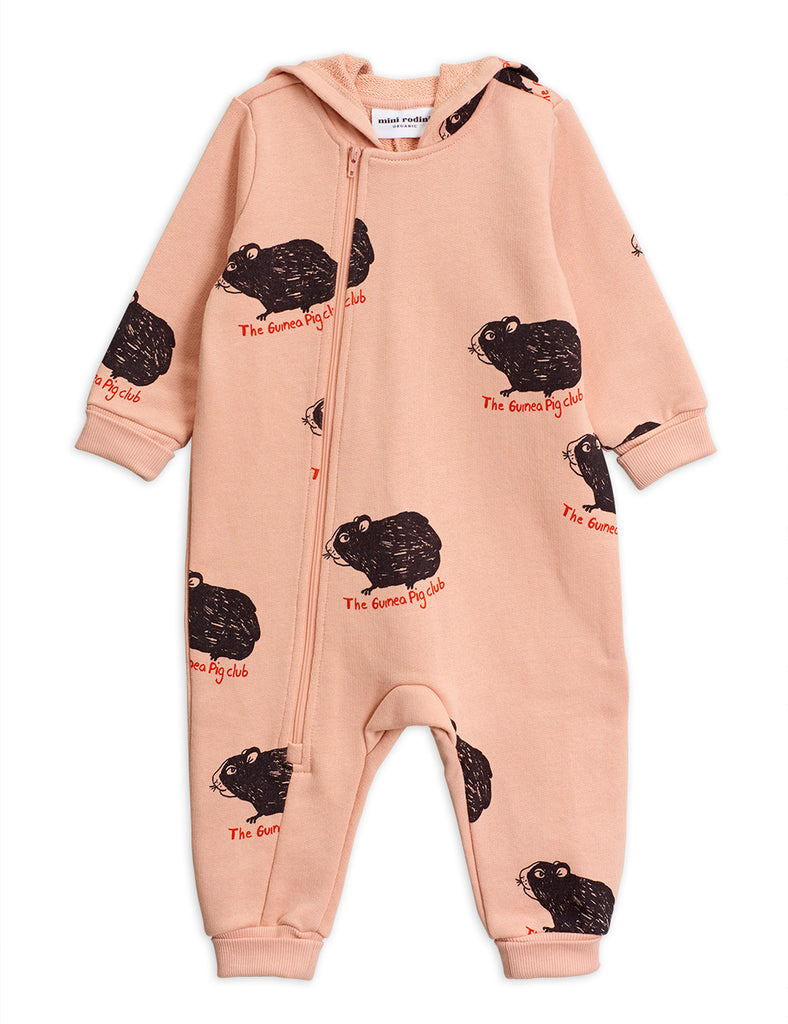 Guinea Pig Onesie pink by Mini Rodini