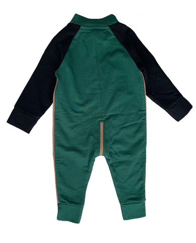 Suit french knit - green by KIK KID