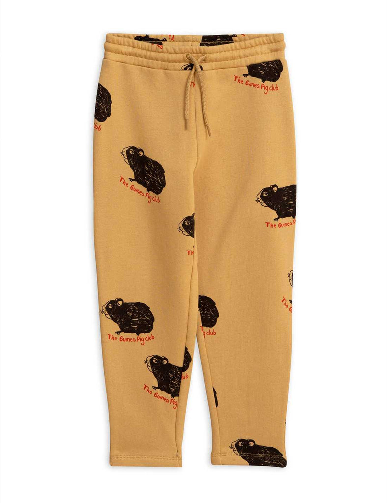 Guinea Pig Sweatpants beige by Mini Rodini
