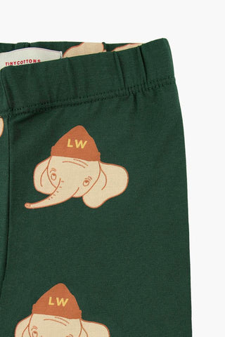 """LUCKYPHANT"" PANT bottle green/light cream by Tinycottons"