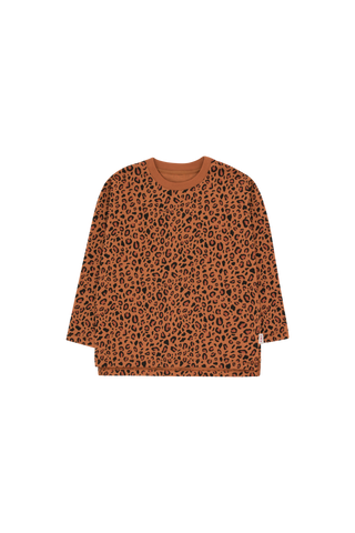 ANIMAL PRINT LS TEE brown/dark brown by Tinycottons