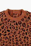 ANIMAL PRINT LS BODY brown/dark brown