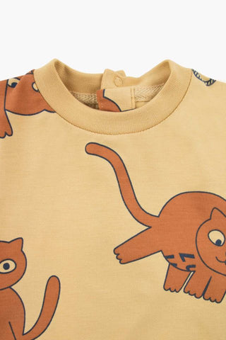 """CATS"" LS BODY sand/brown by Tinycottons"