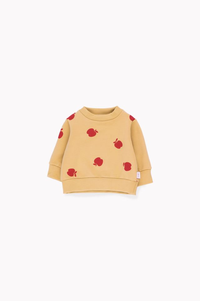 """APPLES"" SWEATSHIRT sand/burgundy"