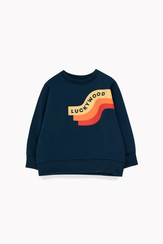"""WAVE"" SWEATSHIRT true navy/sand by Tinycottons"