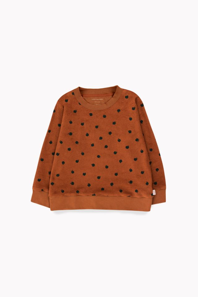 Small Apples Sweatshirt brown/bottle green