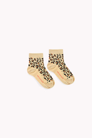 Animal Paattern Quarter Socks sand/brown