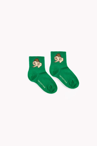 Luckyphant medium socks deep green/sand