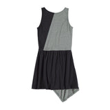 Bicolor dress melange+black by Yporque