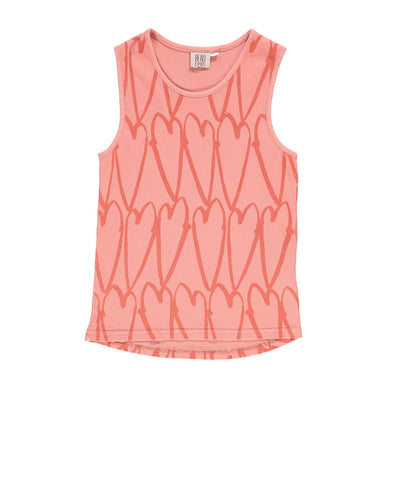 Camiseta Lovehearts de Beau LOves - coral