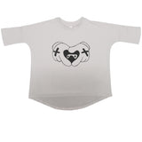 Beau LOves - top súpertalla Heart Hands - gris