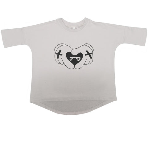 Top supertalla Heart Hands de Beau LOves - gris