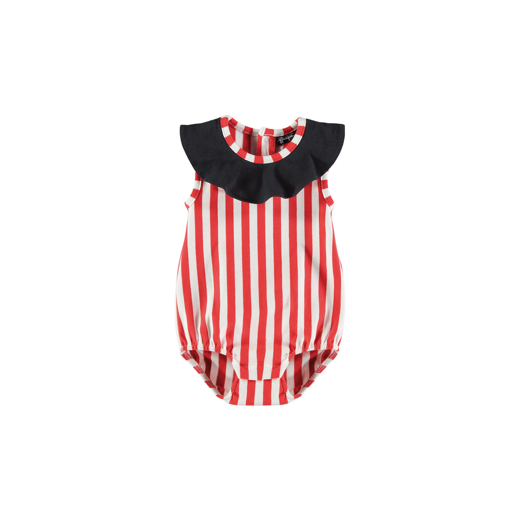 Circus baby romper stripedl by Yporque