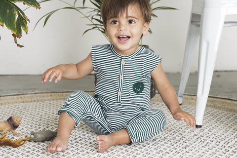 Jumpsuit - Forest Stripe de Little Indians