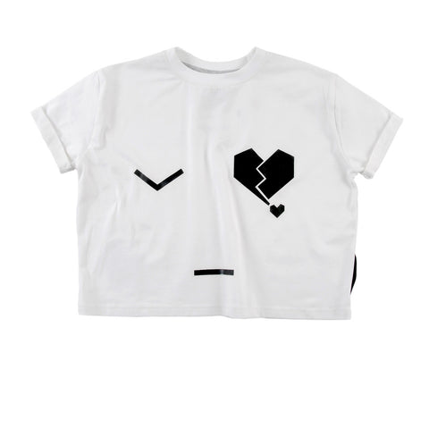 Camiseta supertalla niña Mara de Loud Apparel - blanco