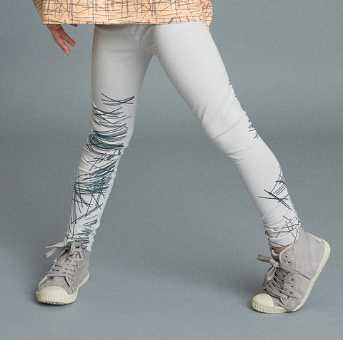 Leggings Sketch de Mainio Clothing - gris claro