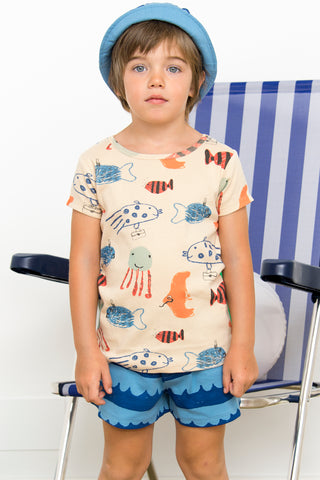 Camiseta  SHOAL OF FISH de Nadadelazos