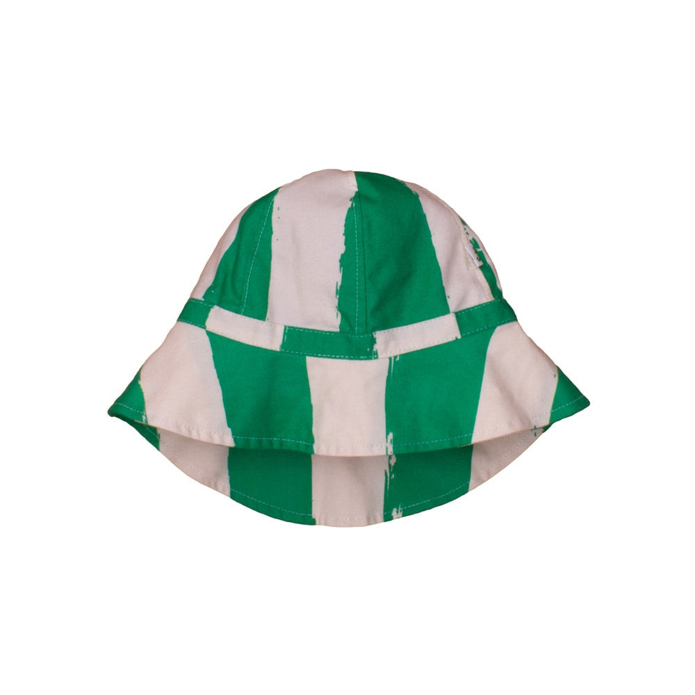 Noé & Zoë - Gorro playa bebé Green Stripes XL