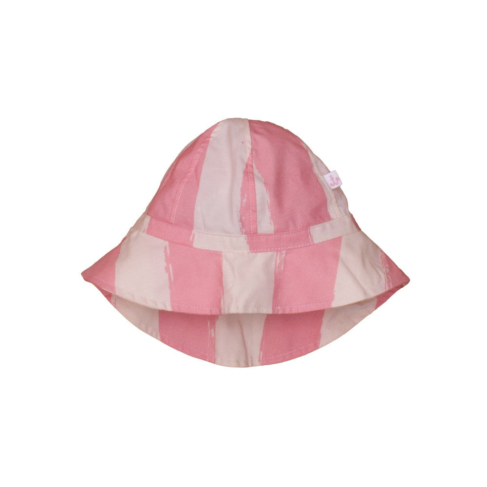 Noé & Zoë - Gorro playa bebé Rose Stripes XL