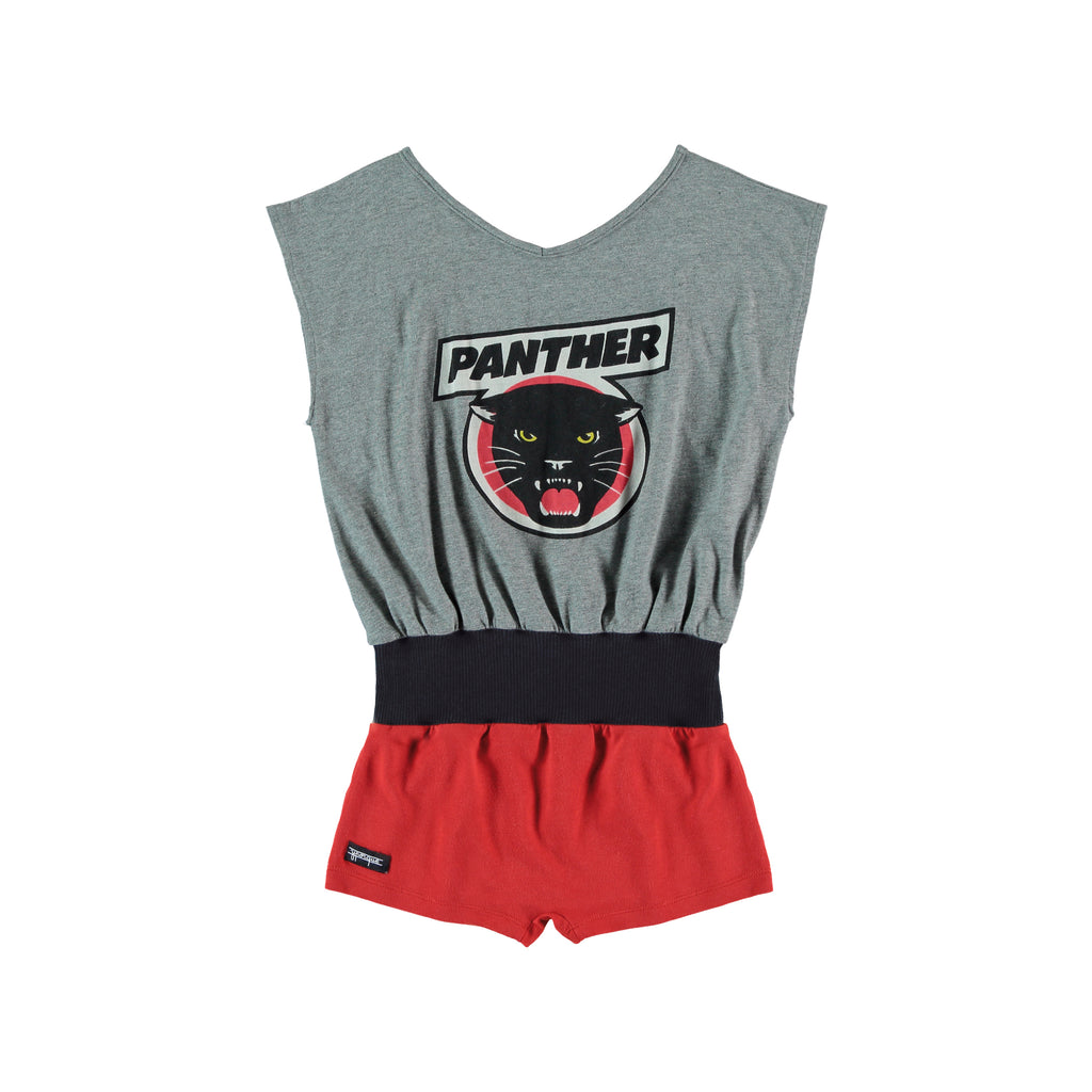 Panther playsuit melange+red by Yporque