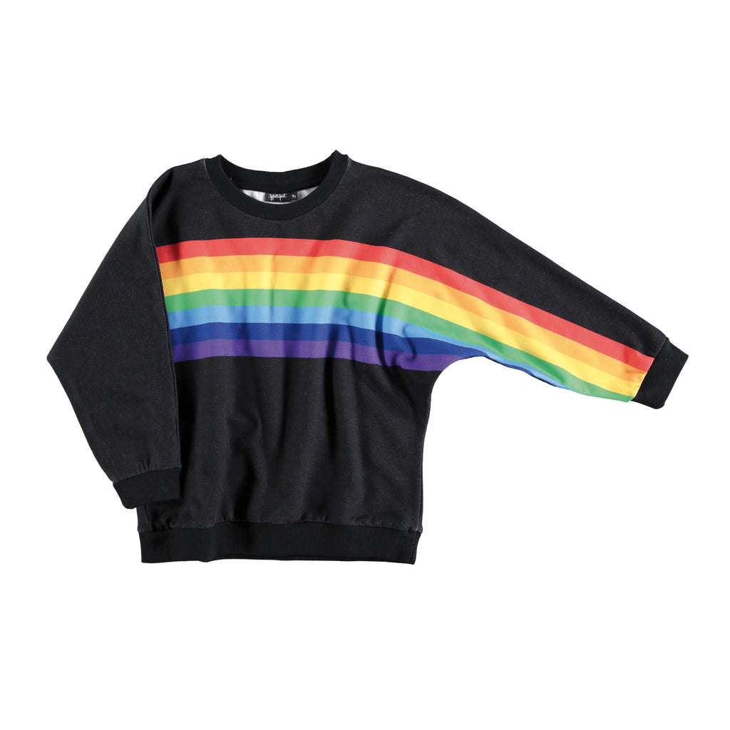 Rainbow Poncho Black by Yporqué