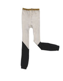 Tinycottons - Leggings Color Block - beige-negro