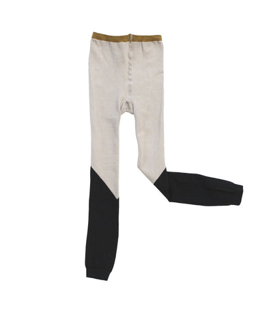 Leggings Color Block de Tinycottons - beige/negro