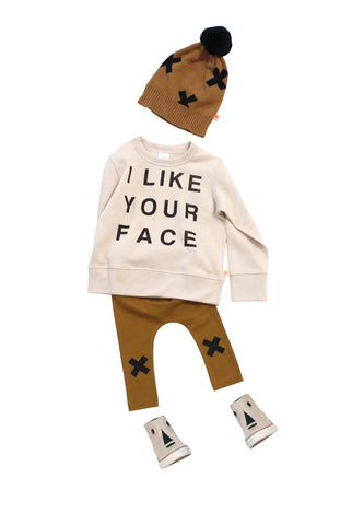 Sudadera gráfica I Like Your Face de Tinycottons